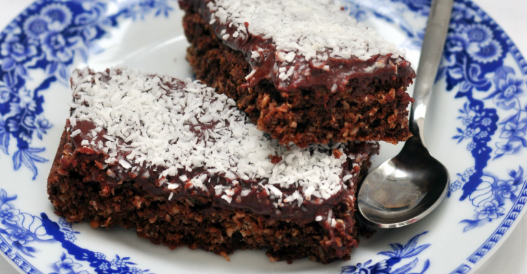 Chocolate Coffee Cake Kissed By Powdered Sweet Sugar ...